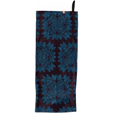 Sport towel / Fitness with slip guard - Small - Bleu noir