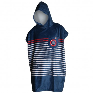 Poncho Sailor Stripes - Marine